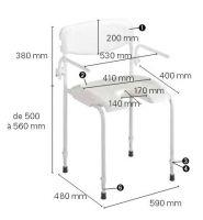 Chaise de douche Alizé - Image 2
